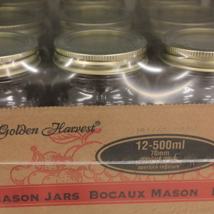 Golden Harvest Mason Jars