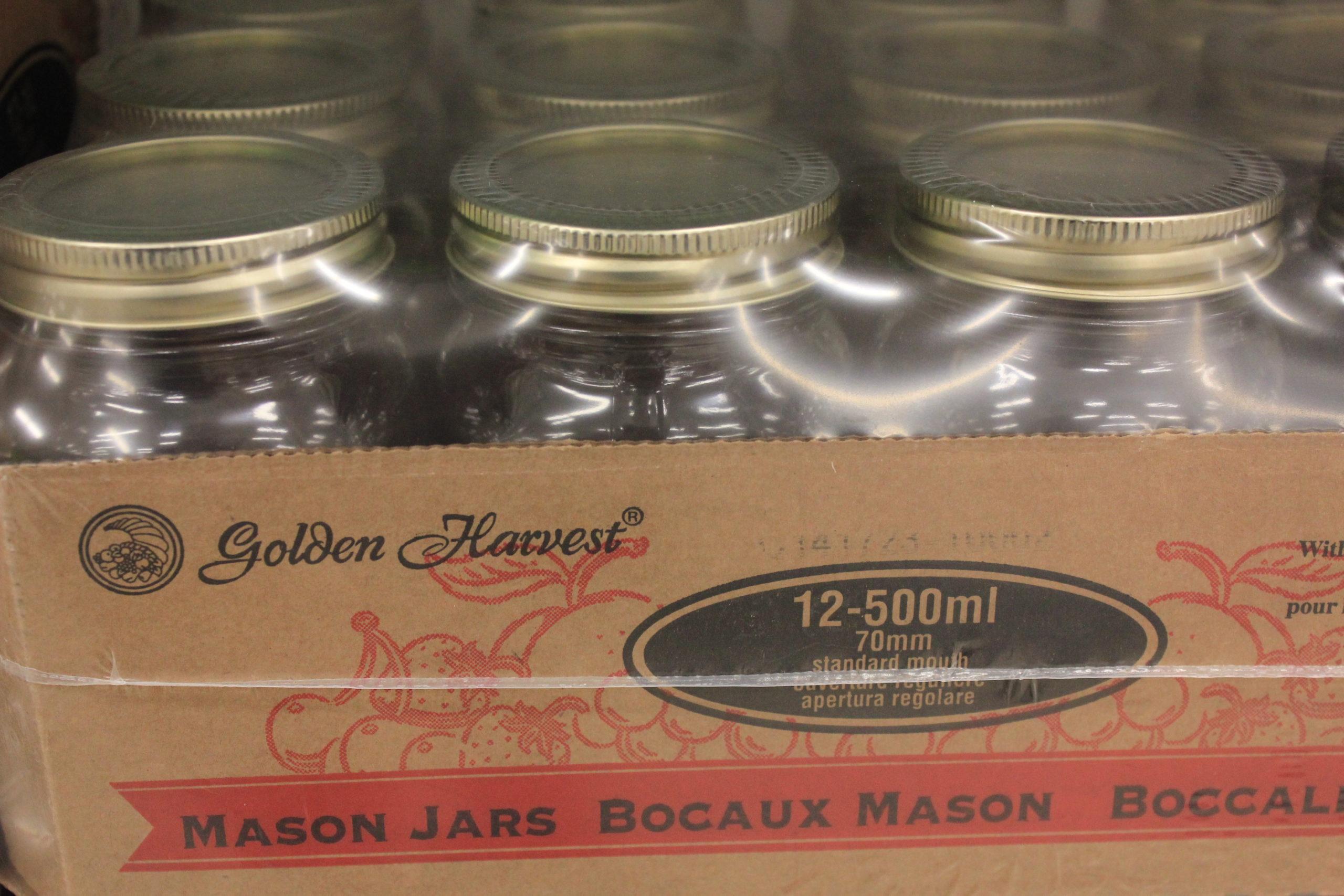 Golden Harvest Mason Jars