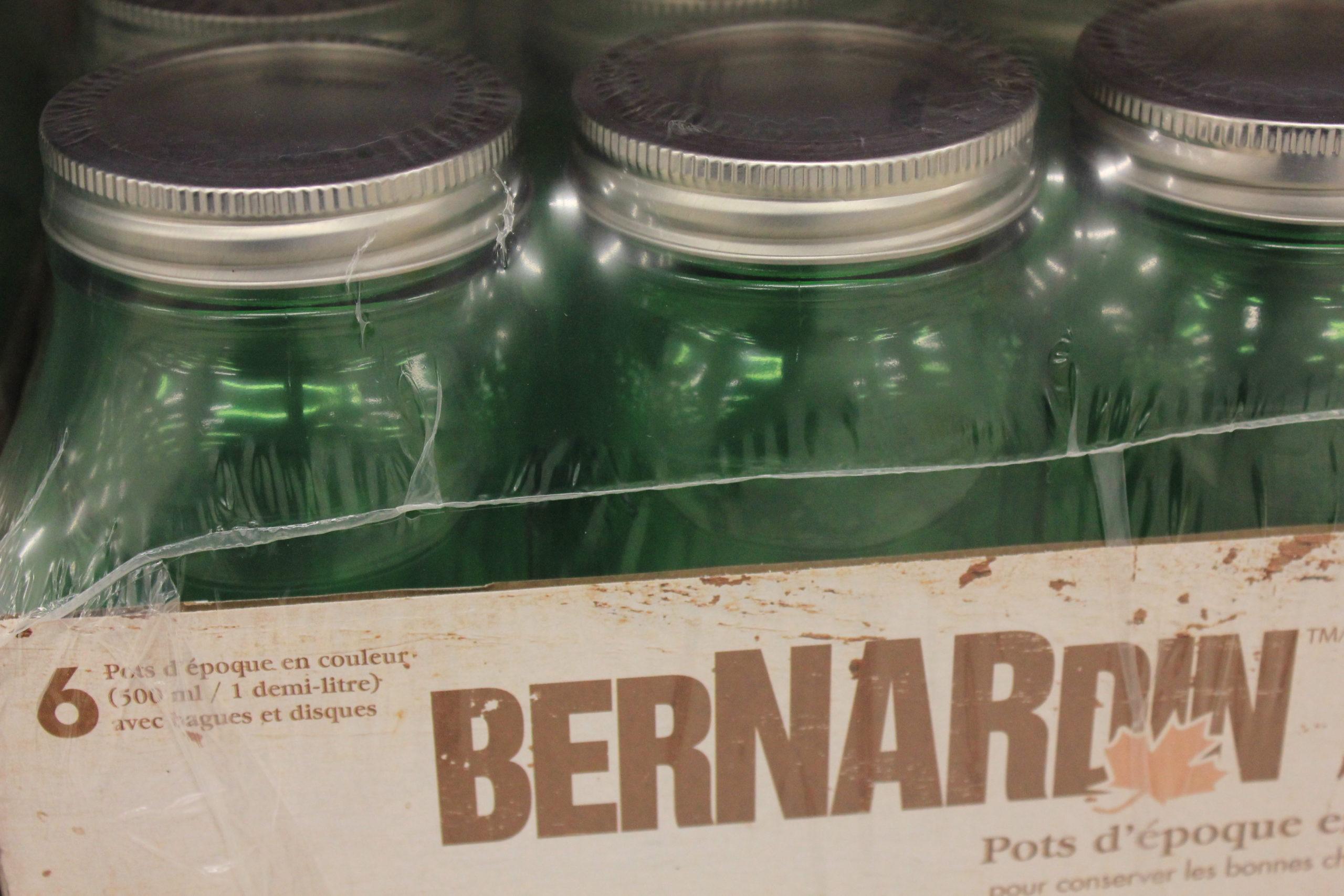 Vintage Bernardin Mason Jars
